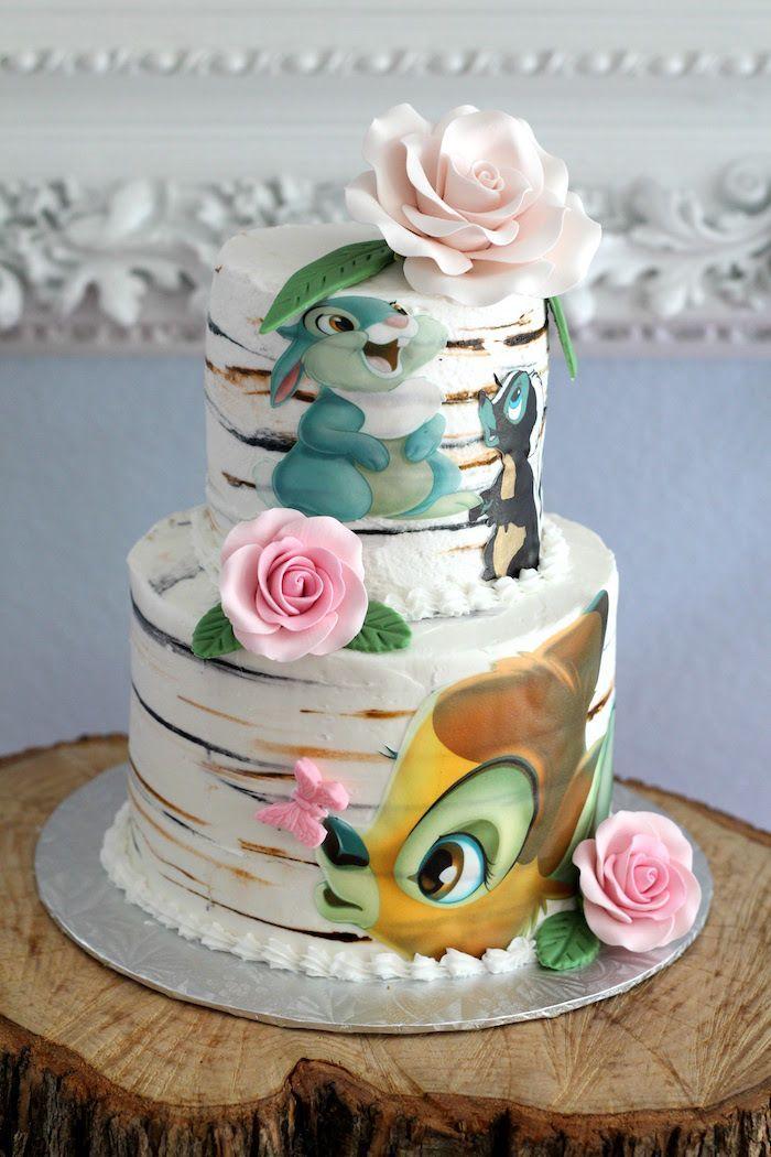 Bambi Birthday Cake from a Bambi Inspired Birthday Party on Kara's Party Ideas | KarasPartyIdeas.com (31)