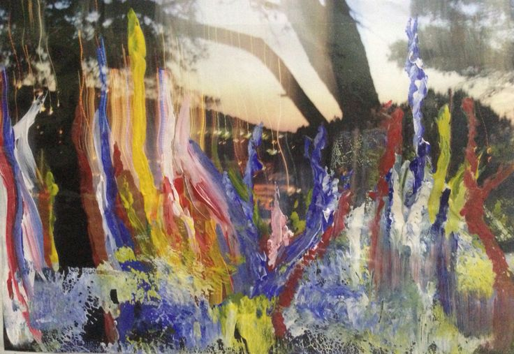 Inspired by Gerhard Richter #abstract