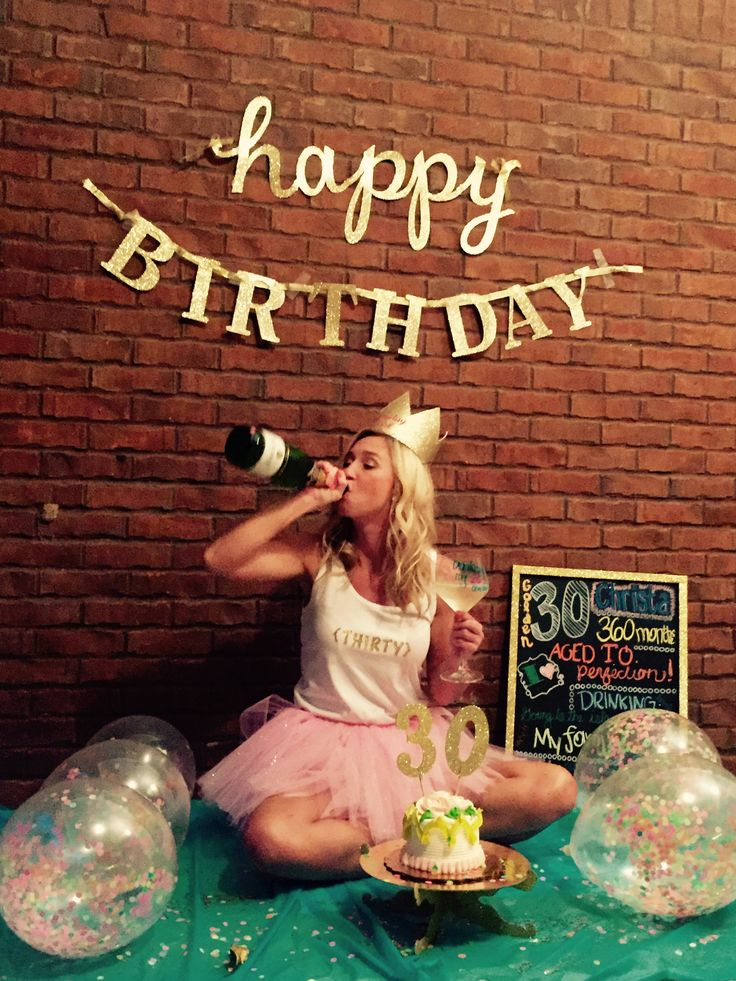 30th Birthday smash cake and booze photo shoot. Drinking my 20s away.