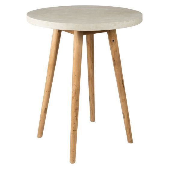Take the contemporary style to the next level with the Round Concrete Bar Table with Teak Apollo Legs its simple design retaining minimalism rev&ed  sc 1 st  Pinterest & Best 25+ Round bar table ideas on Pinterest | Deck table Wood ... islam-shia.org