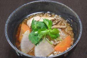 徳島県の郷土料理  そば米雑炊