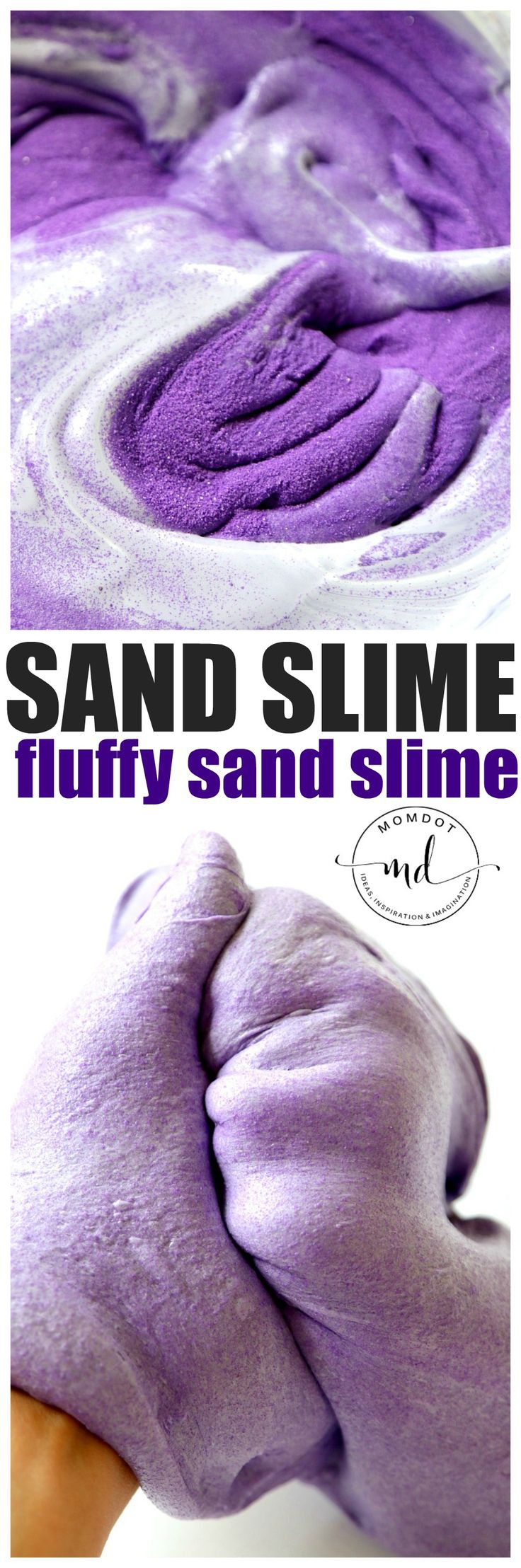 Sand Slime recipe for a new sensory experience than either slime or sand. You can easily make a fluffy sand slime with my sand slime recipe