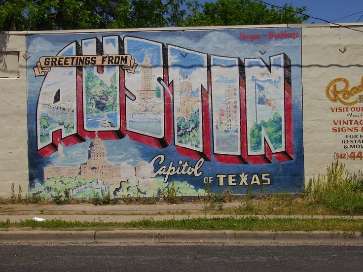 73 best dazed and confused images on pinterest dazed and for Austin postcard mural