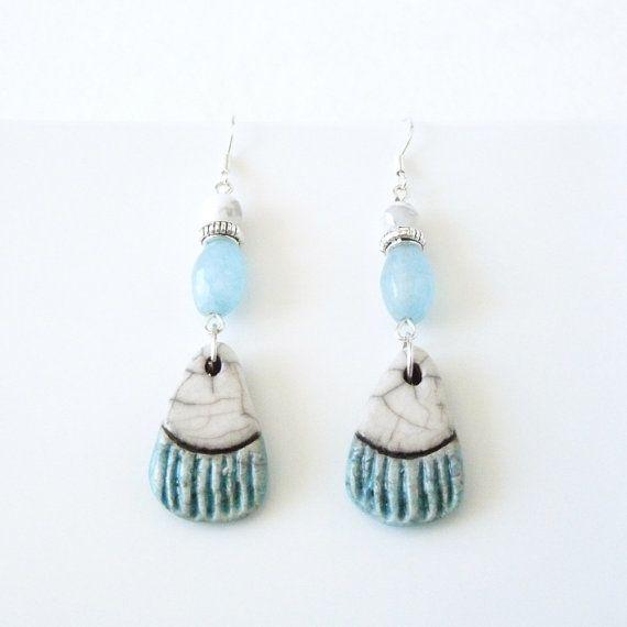Aquamarine Earrings, bleuluciole jewelry, Etsy shop, Etsy jewelry, Etsy earrings https://www.etsy.com/fr/listing/385550670/boucles-doreilles-aigue-marine-style