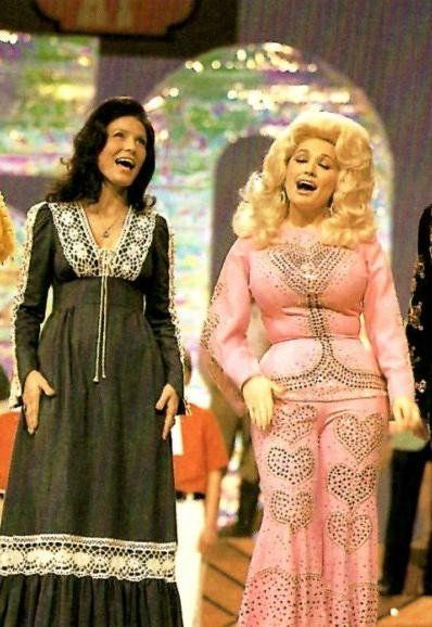 Dolly Parton with Loretta Lynn