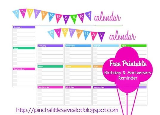 28 best Printable Birthday Calendar images on Pinterest Birthday - birthday planner template