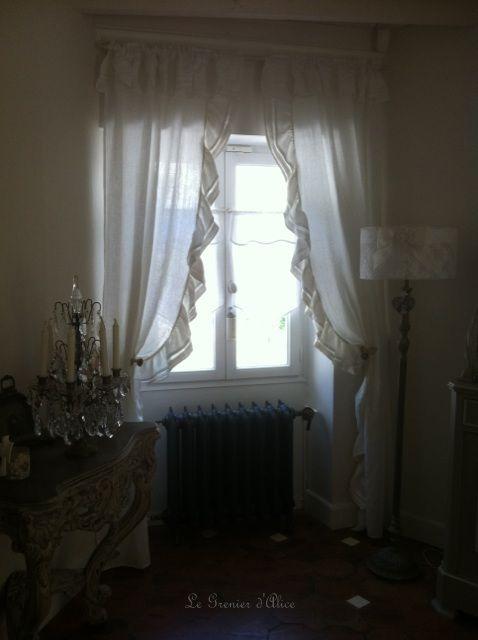 Les 25 meilleures id es concernant rideaux shabby chic sur pinterest longs rideaux et rideaux - Rideau dentelle romantique ...