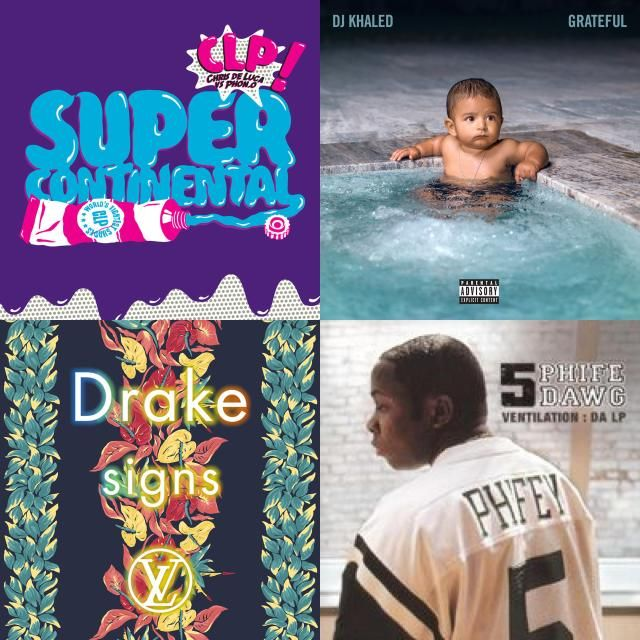 A playlist featuring CLP Feat. Zion I & Data Mc, Phife Dawg, DJ Khaled, and others