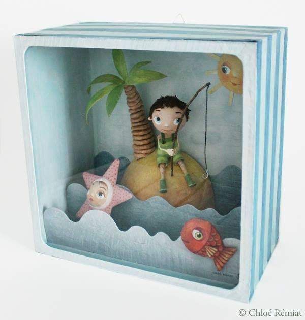 """""""A la mer"""" - Photo de BOITES ET CADRES DISPONIBLES * Available boxes and frames - Tibout de blog"""