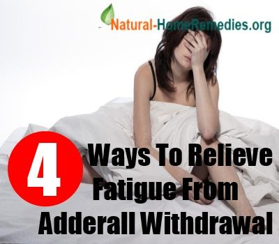 How To Relieve Fatigue From Adderall Withdrawal- Great ways to curb the comedown when you're prescribed adderall.