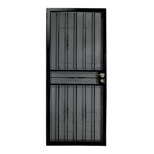 Home depot first alert venetian black steel security screen door 1 inch thickness dream home - Home depot security gate ...