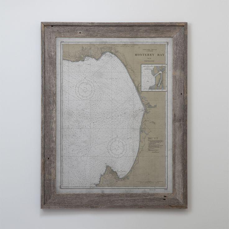Monterey Map : Vintage Nautical Map Monterey Bay, California - 20th C.