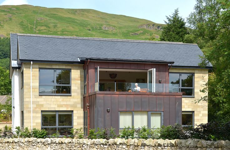 The new apartments are built using high quality materials and finishes throughout of natural slate roofing, sandstone walling, copper cladding and solid natural oak internally