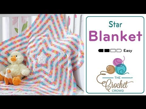 Learn how to crochet a baby star blanket. You can use this same tutorial to make your star afghan as big as you want it to be. Just follow along. Get more in...