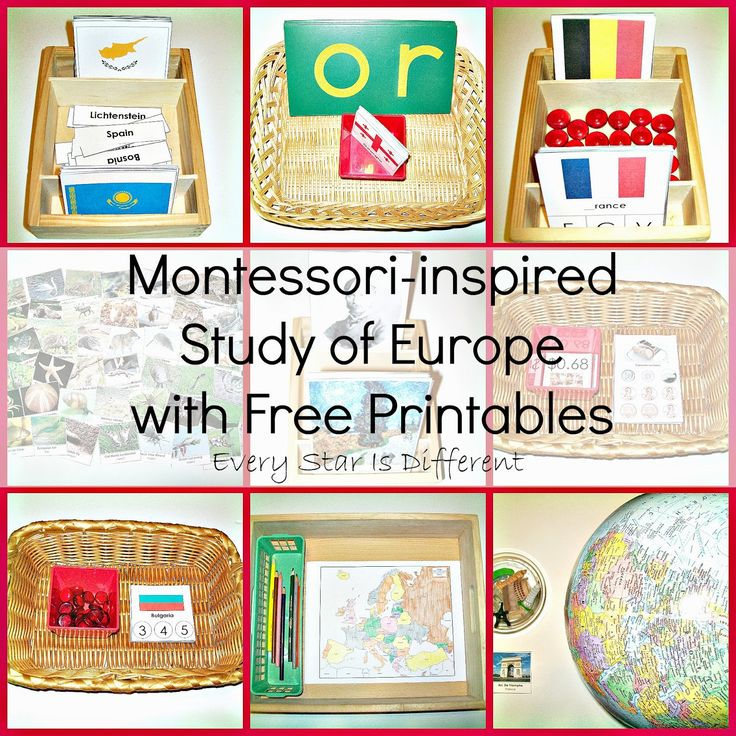 Montessori-inspired Study of Europe w/ Free Printables from Every Star Is Different