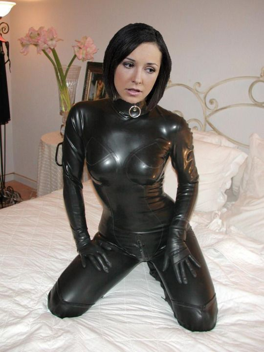 Fuck her pvc catsuit bondage the business love