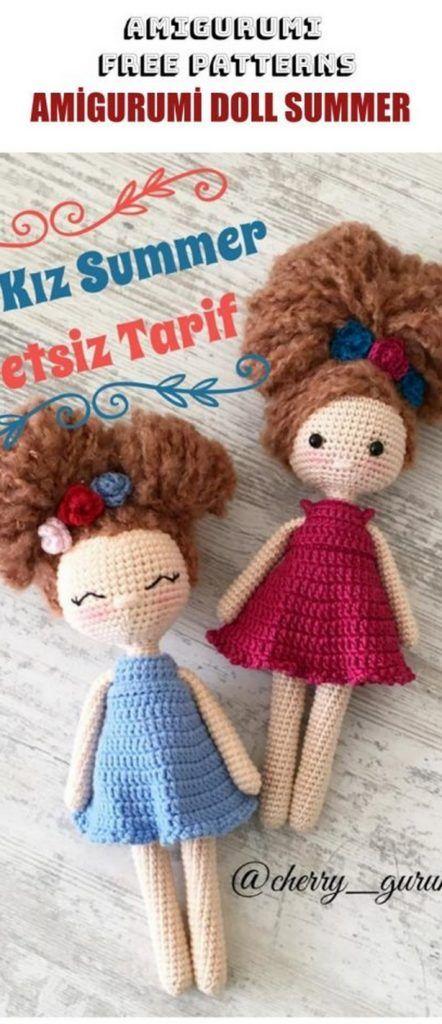 Amigurumi Doll Summer Girl Free Crochet Pattern – Amigurumi Free Patterns