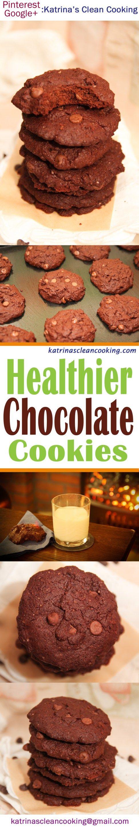 Healthier Dark Chocolate Cookies #healthy #chocolate #glutenfree #cookies #remembrance