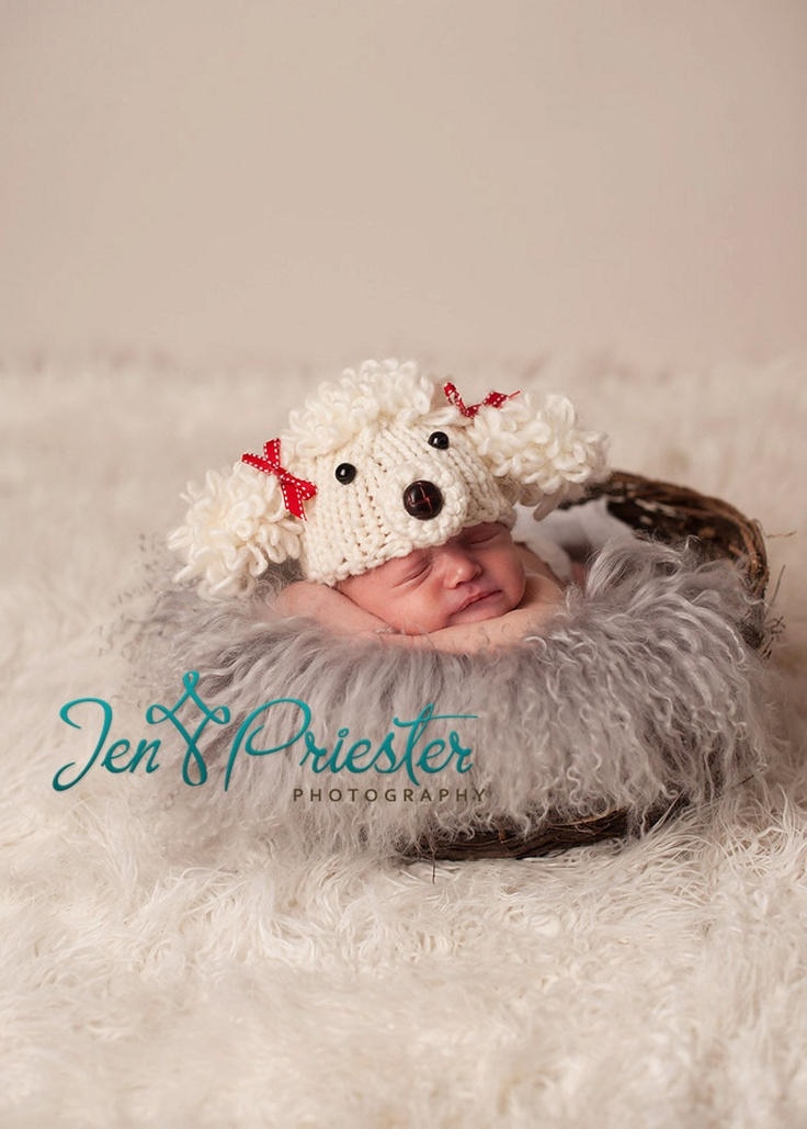 20% off now Poodle baby hat great photograpy prop Many sizes. $32.00, via Etsy.