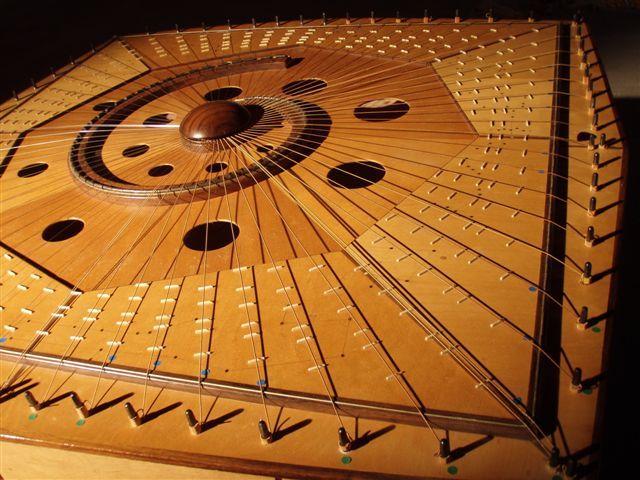 Corner view of the Celestial Harp