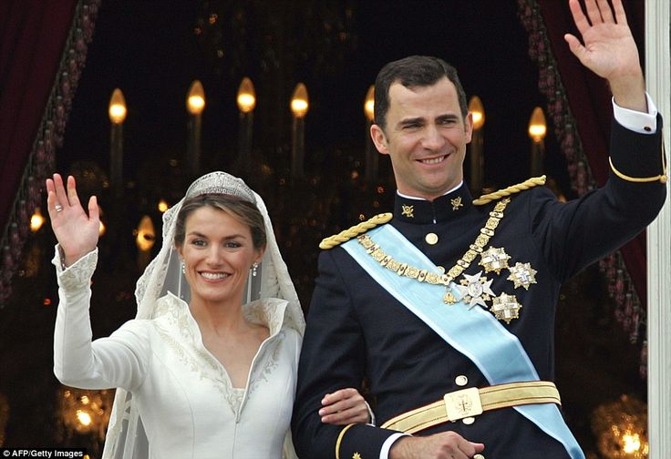 Princess of Asturias Letizia Ortiz  married the Spanish Crown Prince Felipe of Bourbon in 2004 is a stunning ceremony that culminated in the...