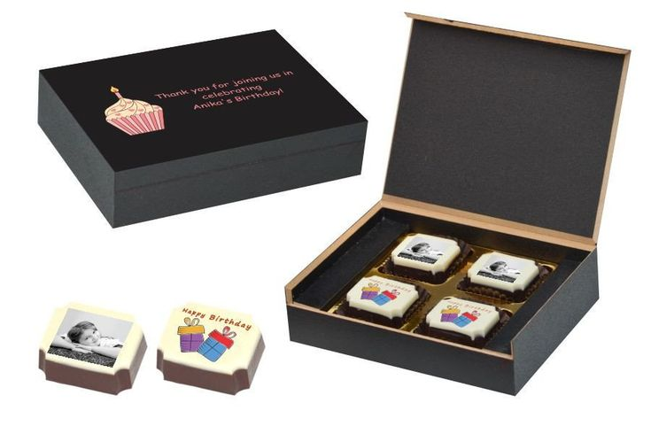 Birthday Return Gifts - 4 Chocolate Box - All Printed (10 Boxes)