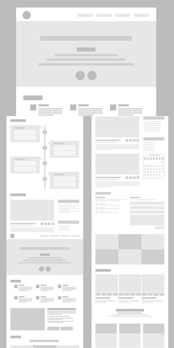 Desktop Wireframe Layout Mockup Wireframe Design Minimalist Web Design Wireframe
