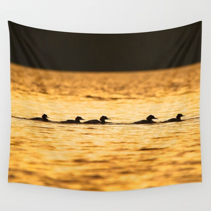 In Single File Wall Tapestry