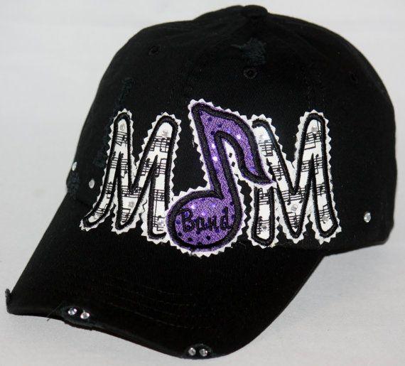 Custom BAND MOM embroidered applique hat.  by SpiritLoft on Etsy