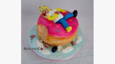 Gâteaux donut geant homer simpson