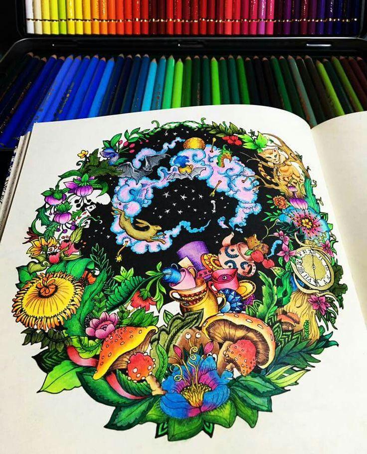 189 Best Malbuch Escape To Wonderland Images On Pinterest