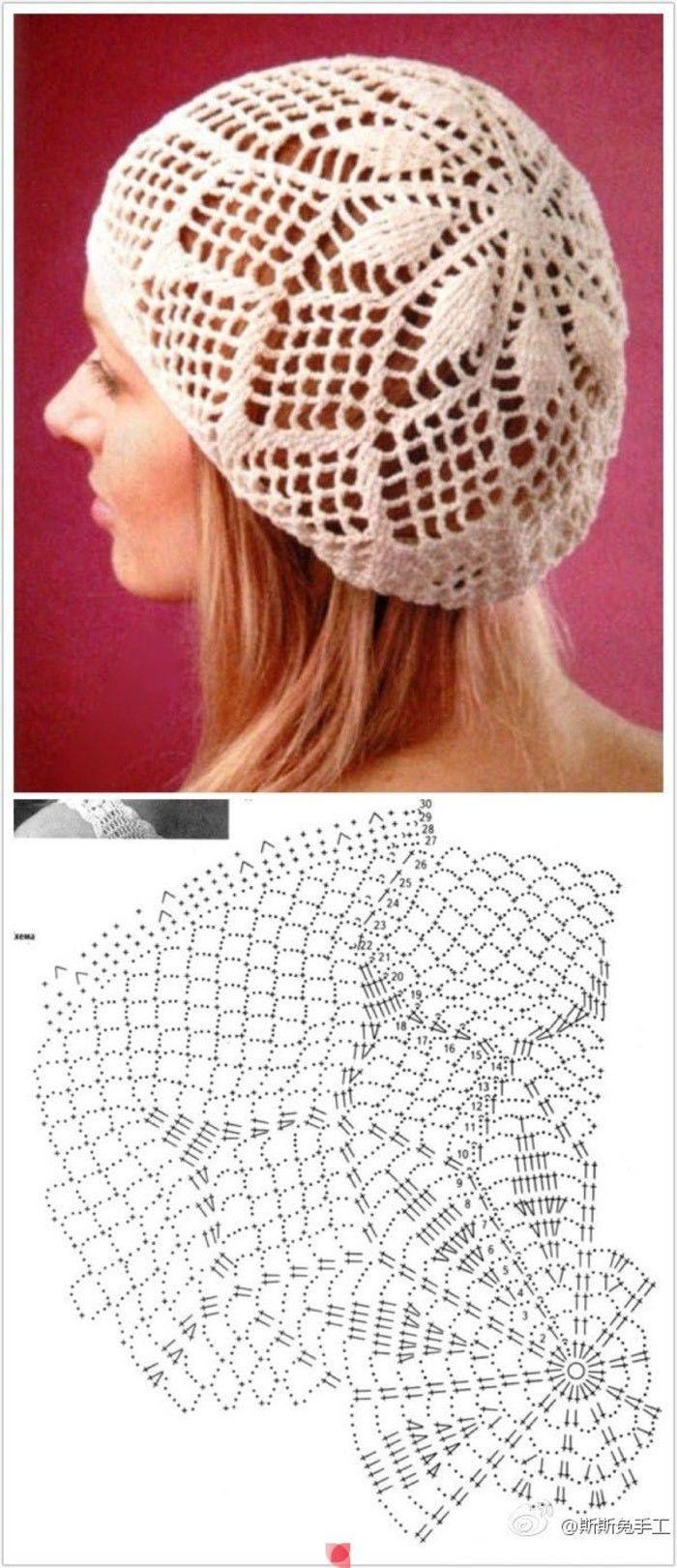 24 best Gorros crochet dama images on Pinterest   Crochet hats ...
