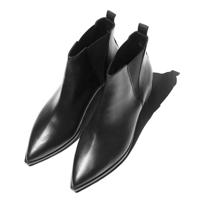 acne studios jensen leather ankle boots gd goods pinterest. Black Bedroom Furniture Sets. Home Design Ideas