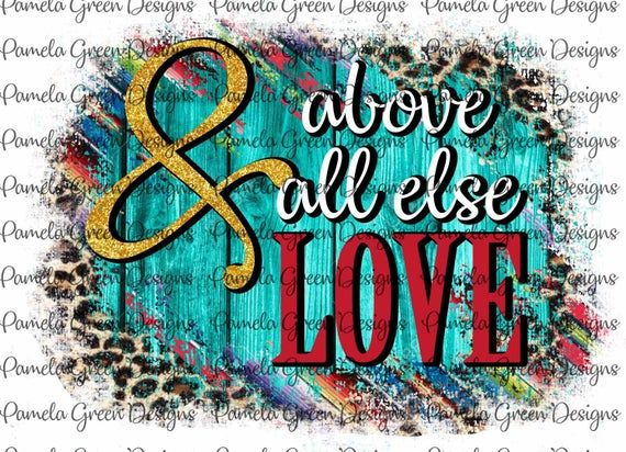 Download Valentine Above All Else Love Serape Leopard Turquoise ...