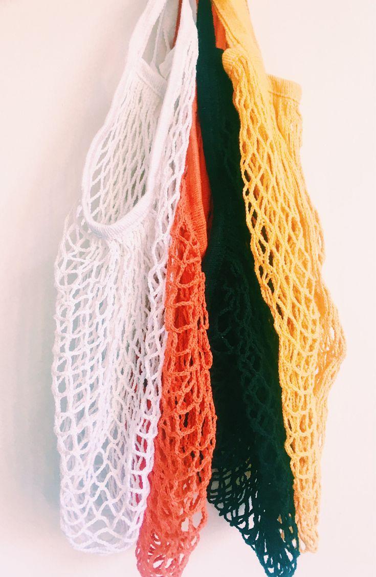 Excited to share the latest addition to my #etsy shop: Net Bag, French Market Bag, Mesh Bag, Eco Bag, Grocery Net Shopping Bag, Beach Bag, Retro String Bag, Woven Crochet Macrame Bag, Reusable