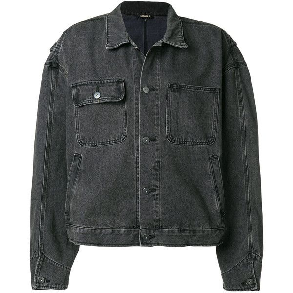 Yeezy Worker faded jacket (1.955 BRL) ❤ liked on Polyvore featuring men's fashion, men's clothing, men's outerwear, men's jackets, grey, mens oversized denim jacket, mens grey jacket, faded glory men's jackets, mens gray leather jacket and mens cotton jacket