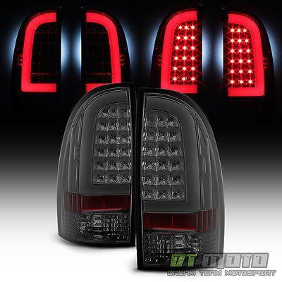 Smoke [LED Light Tube] 2005-2015 Toyota Tacoma LED Tail Lights Brake Lamps 05-15