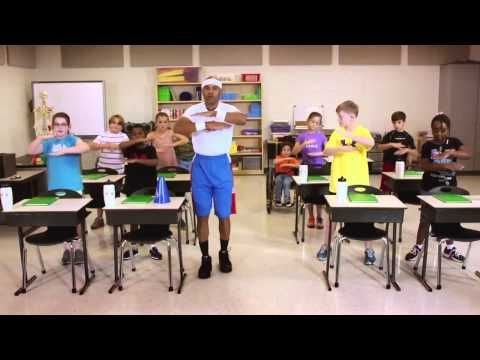 """Are your students feeling tired? Give them a quick brain break with our """"Hey, Sleepyhead!"""" fitness video! #Teachers"""