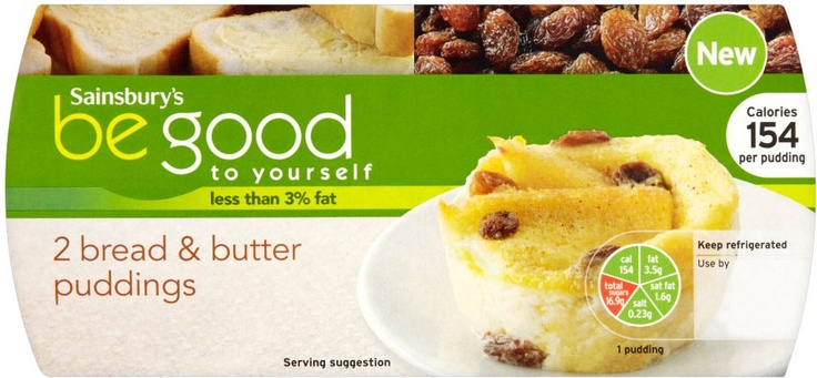 Sainsbury's Be Good to Yourself Bread & Butter Puddings (2x120g)