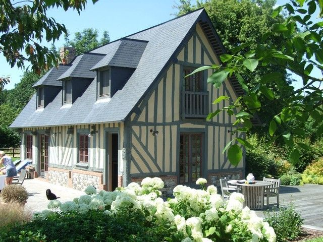 Chaumiere normande demeures de charme normandie pinterest normandie - Plan maison normande ...