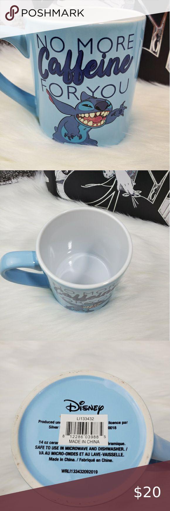 """New! Stitch! """"No more caffeine for you"""" Mug in 2020 Mugs"""