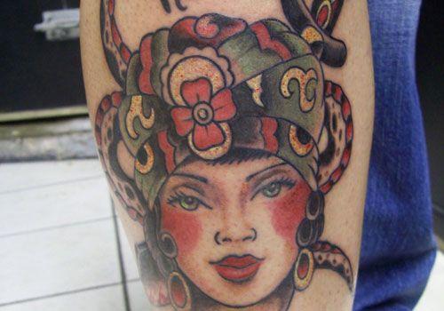 traditional gypsy tattoo design