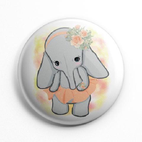 Szoknyás elefánt kitűző