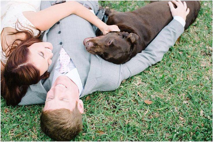 Sarah Beth Photography, Engagement Photography, Louisiana Photographer, Engagement Photo With Dog, Chocolate Lab, www,sbethphoto.com