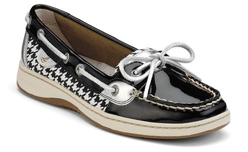 houndstooth!Boats Shoes, Boat Shoes, Sperrys Tops Sid, Sperrys Topsiders, Angelfish Boats, Woman Shoes, Women Shoes, Slipon Boats, Topsiders Women