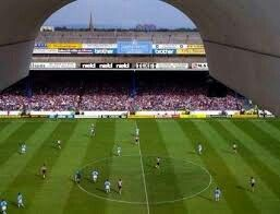 Kippax viewed from the main Stand.  Maine Road