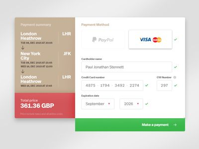 Daily UI - 002 - Checkout form