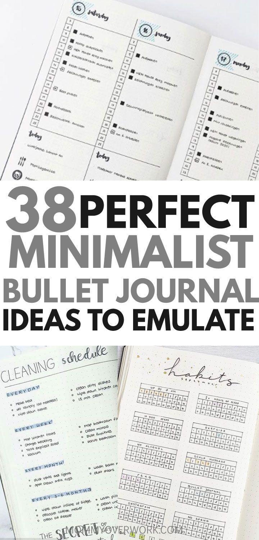 Möchten Sie ein minimalistisches Bullet-Journal-Layout als Inspiration? Wenn Ihr Ziel ist es, m …