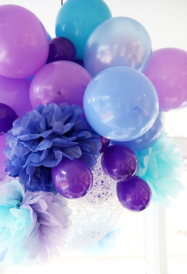 Pretty Purple Party Decorating Ideas Oh My Glob Pinterest Birthday Balloons And Decorations