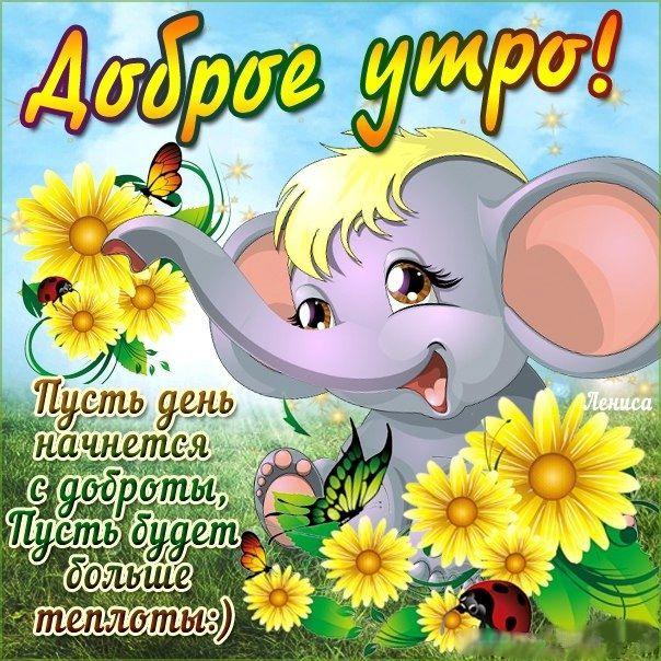Открытки днем, открытки для детей с добрым утром и хорошим днем